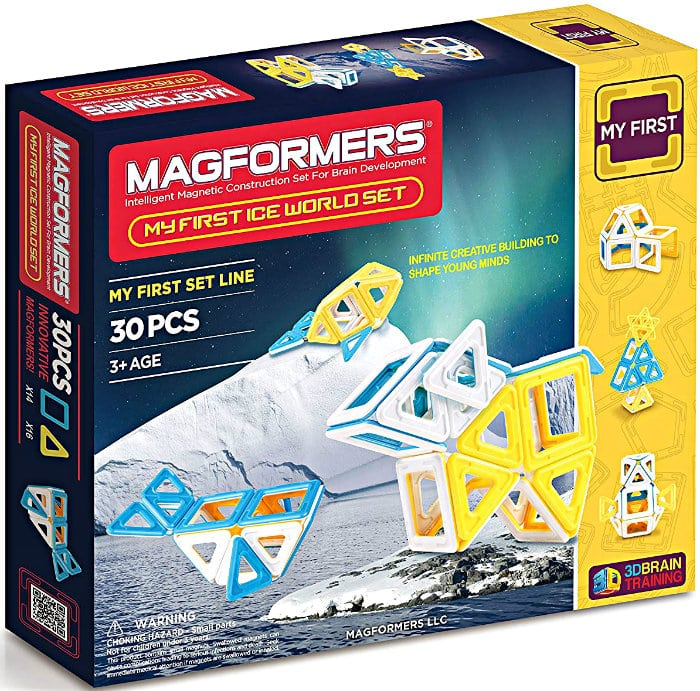 30-Piece Magformers My First Ice World Set Magnetic Building Blocks