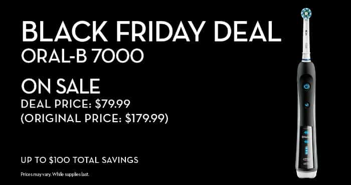 Black Friday deal for Oral-B 7000
