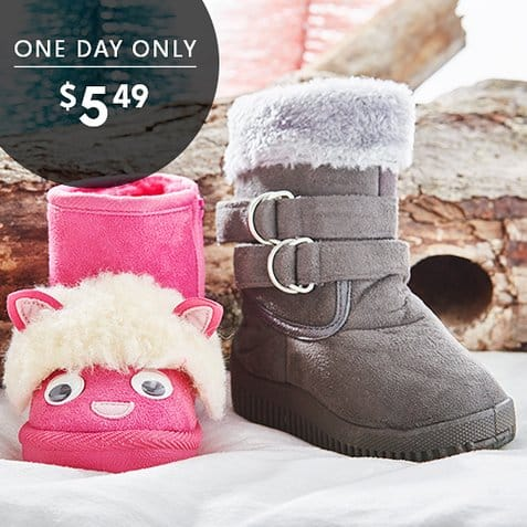 snow boots on Zulily.com
