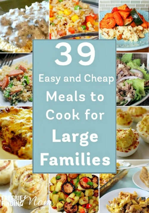 Cheap meals to cook for large families