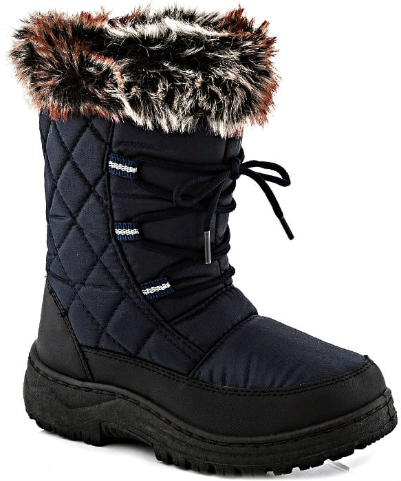 Black Quilted Snow Boot