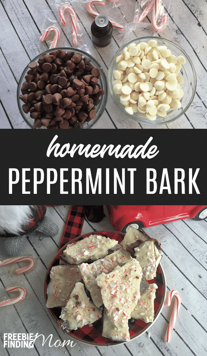 Do you need an easy yet incredibly delicious dessert that is perfect for Christmas gift giving? This decadent Homemade Chocolate Peppermint Bark recipe should be high on your list because it not only is simple to make, but it is great for gifting to friends, family, teachers and more! #peppermintbarkrecipe #peppermintbarkeasy #barkrecipeschristmas #barkrecipeseasy