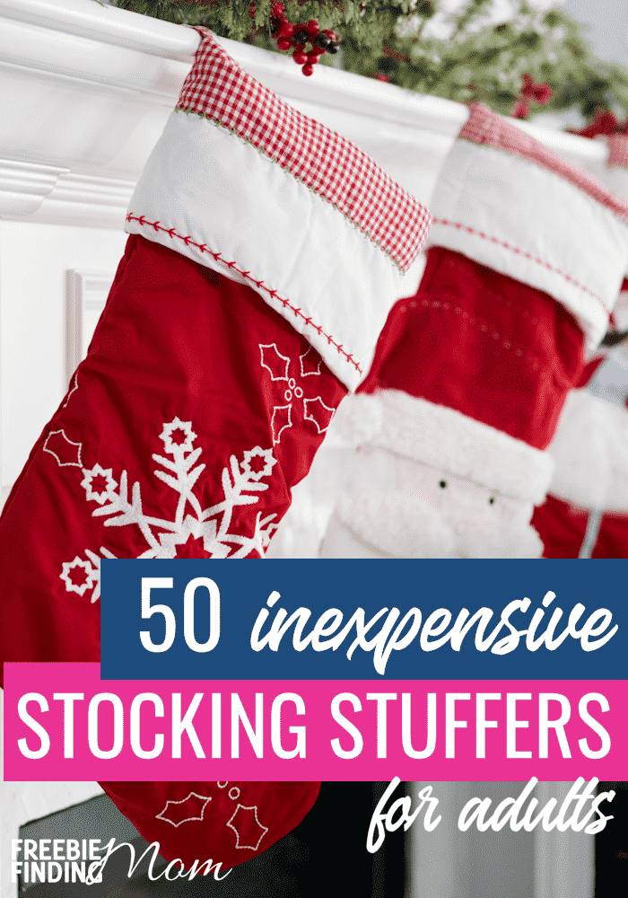Do you need stocking stuffers for men and women in your life? These 50 Inexpensive Stocking Stuffers for Adults will help you find the perfect Christmas gifts for those on your list and without breaking the bank! #stockingstuffersformen #stockingstuffersforboyfriends #stockingstuffersforhusbands #stockingstuffersforcheap
