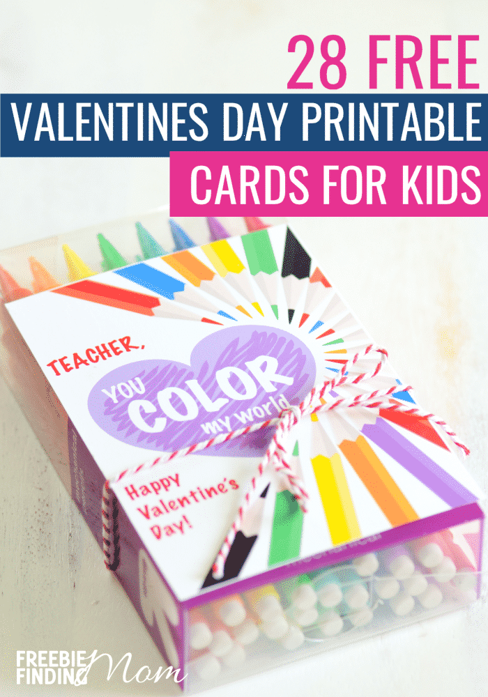 There are so many fun FREE Valentine's Day Cards Printables for Kids here! You'll find everything from printable unicorns, tic-tac-toe boards, gumball machines and more! Plus, with some of these free printable valentine cards you can include a little toy or treat like a glow stick, pencil or lollipop. Go ahead and download your favorite free printable valentines for kids today! #freeprintablevalentinesforkids #freeprintablevalentinecardsforkids