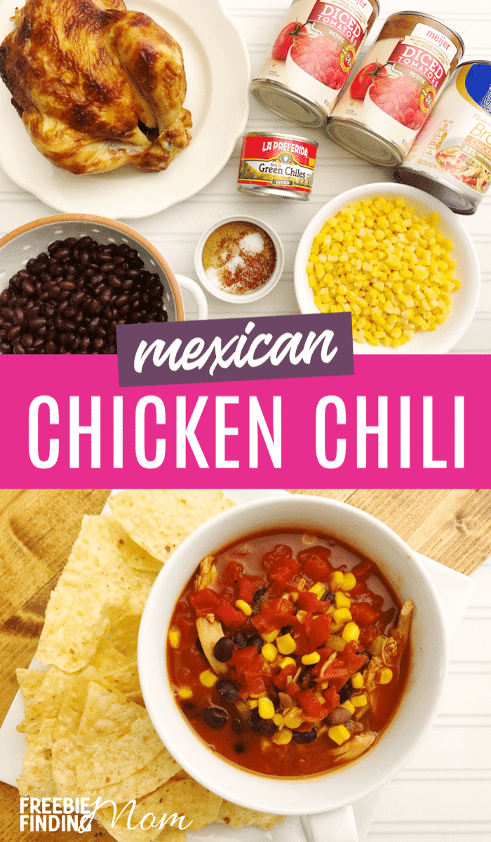 Need a hearty, flavorful and quick chicken chili recipe? This Mexican Chicken Chili recipe is not only delicious and healthy, but you can whip it up in under an hour (including prep time) making it a perfect busy weeknight meal. #chilirecipeeasy #chilirecipebest #mexicanfoodrecipes #chickenchilirecipe