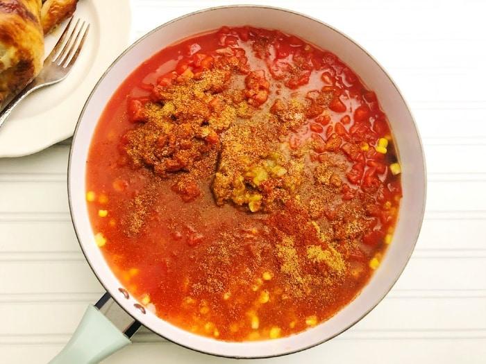 add spices for chili recipe soup