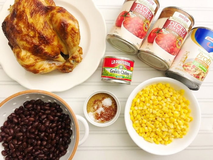 ingredients for quick chicken chili recipe