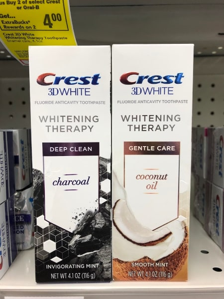 Crest 3D White Toothpaste in CVS