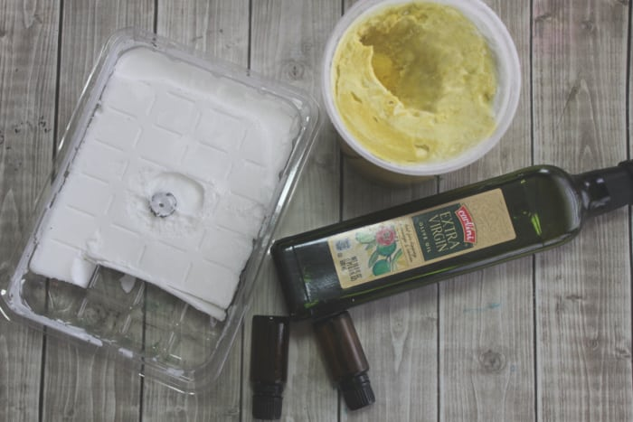 ingredients for new olive oil soap