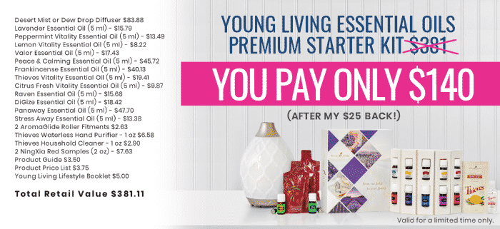 Young Living Essential Oils Premium Starter Kit Value