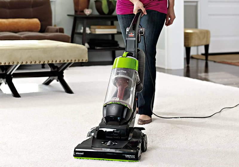 Bissell CleanView Bagless Upright Vacuum in use