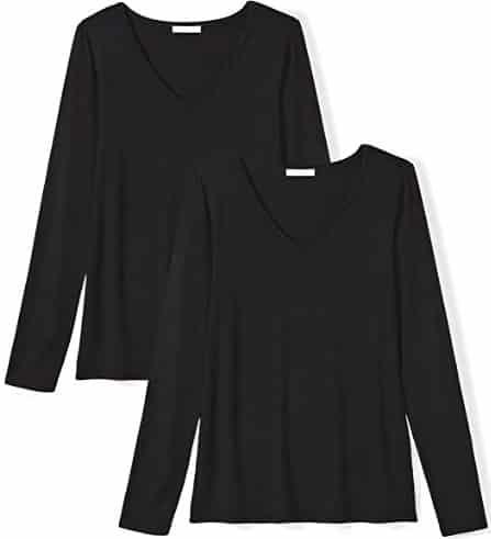 Daily Ritual Women's Jersey Long-Sleeve V-Neck T-Shirt