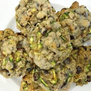 Homemade Zucchini-Oat Chocolate Chip Cookies
