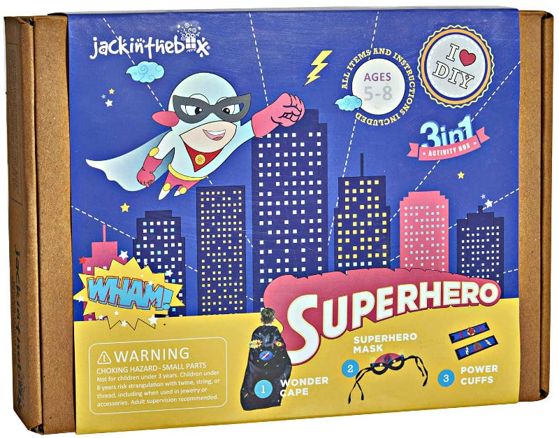 jackinthebox Superhero Themed Art and Craft Kit for Boys