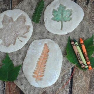 Colored Salt Dough Leaf Impressions