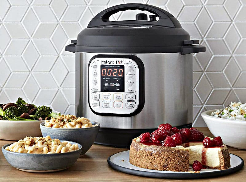 Instant Pot Duo 80 7-in-1 Electric Pressure Cooker in use