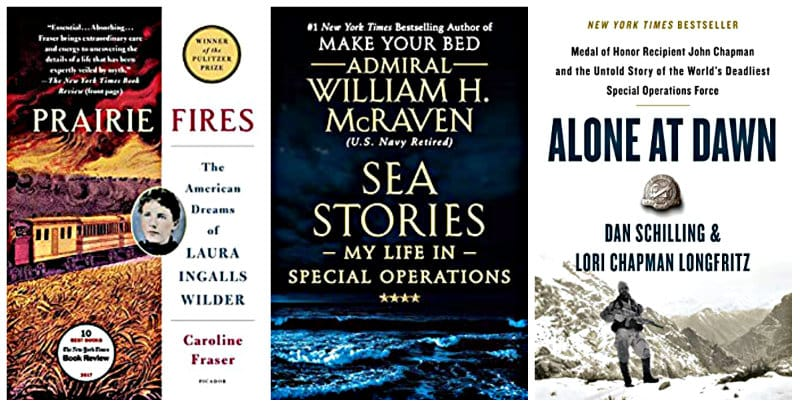 Prairie Fires, Sea Stories and Alone at Dawn Kindle reads