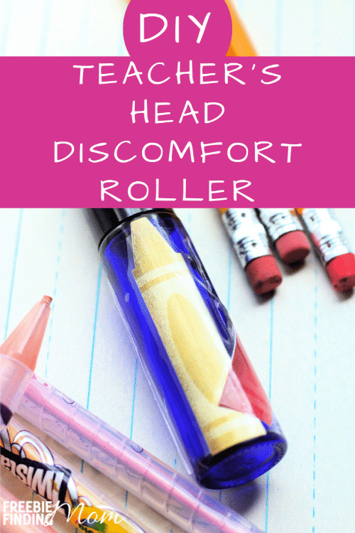 "Do you experience head discomfort? Essential oil roller blends like this DIY Teacher's Head Discomfort Roller are strong enough for a teacher whose been dealing with our little ""angels"" all day, yet perfect for the rest of us as well. Simply grab a roller bottle then add a carrier oil along with four essential oils (Panaway, Peppermint, Lavender and Rosemary) to it to whip up this essential oil roller recipe. #essentialoilsforbeginners #essentialoilsforhead #essentialoilrecipes #essentialoilblends"