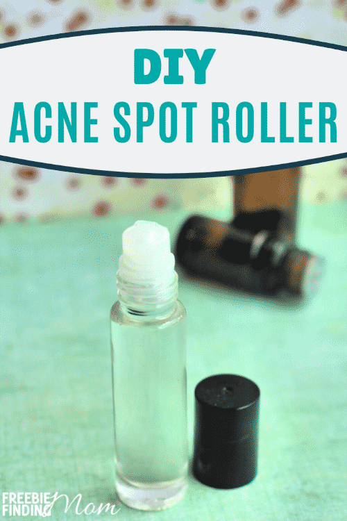 Got a blemish that just won't go away? Try this homemade acne spot treatment (best for all skin types)! This easy all-natural DIY acne treatment requires only six ingredients (witch hazel, Vitamin E oil, and lavender, tea tree, clary sage and juniper berry essential oils) and can be whipped up in minutes! #acnetreatment #acneskincareroutine #homemadeacneremedies #diyacnetreatment
