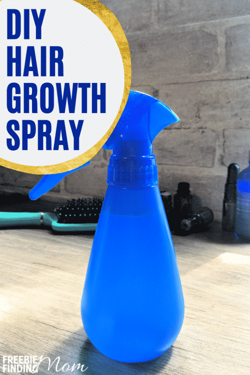 Are you struggling to grow out damaged, breaking hair? Try this easy-to-make, all-natural homemade hair growth recipe! Simply combine distilled water with witch hazel, carrot seed oil, argan oil and four essential oils (peppermint, rosemary, cedarwood, and lavender), and you've got a DIY hair growth treatment spray that can improve your hair's health and help it grow faster! #diyhairgrowthtreatment #diyhairgrowthrecipes #diyhairgrowthspray #homemadehairgrowthtreatment #homemadehairgrowthspray