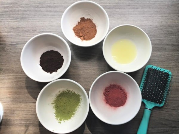 ingredients for homemade brown hair dye