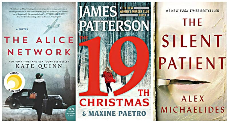 The 19th Christmas (Women's Murder Club) by James Patterson, The Silent Patient by Alex Michaelides, The Alice Network: A Novel by Kate Quinn Kindle books