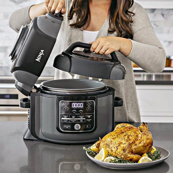 Ninja Foodi 8-Quart TenderCrisp Pressure Cooker in use