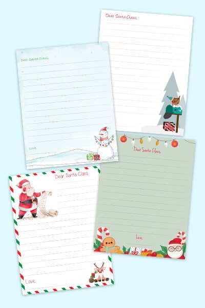 printable Santa letter templates free downloads