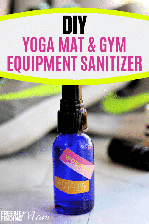 Do you know how many germs are lingering on yoga mats and gym equipment? A disturbing amount which is why properly protecting yourself by using a sanitizer when you work out is important. This all-natural Homemade Sanitizer Spray is easy to make and effective at killing germs without any harsh chemicals or alcohol. Try it today along with my Homemade Hand Sanitizer recipe! #homemadesanitizerspray #diysanitizingspray #diysanitizerspray