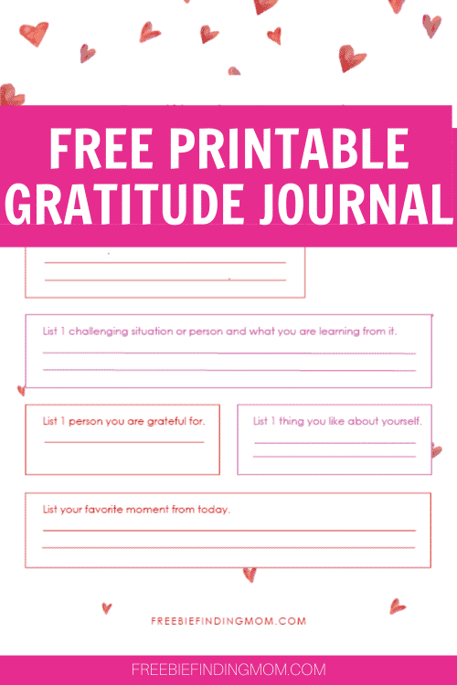 What Is A Gratitude Journal Download This Free Gratitude Journal Printable Freebie Finding Mom