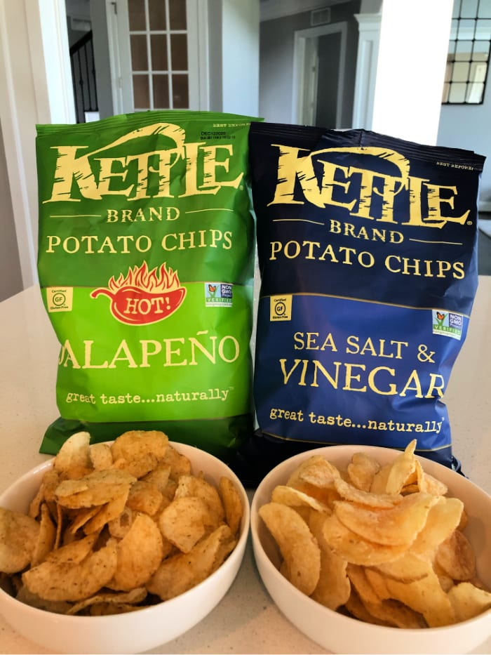 Jalapeno and Sea Salt & Vinegar Kettle Brand Chips