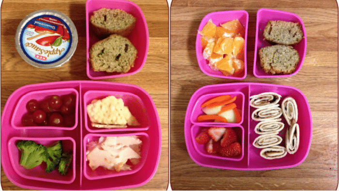 Starting out the list of toddler lunch ideas are a few tasty turkey options as well as a twist on PB&J.