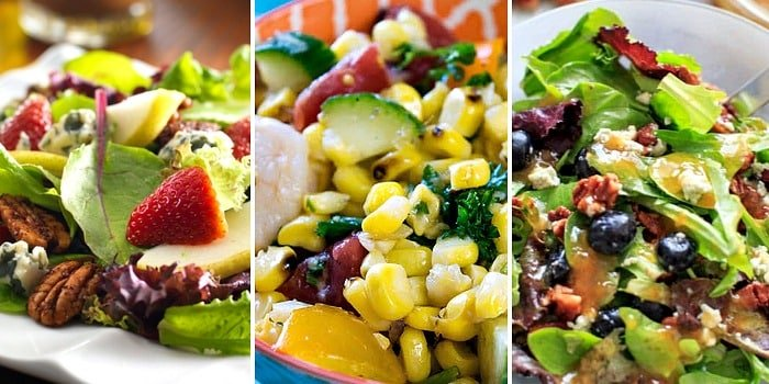 Salads make healthy, vibrant, and easy cold lunches for work