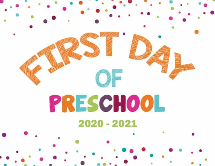 For a more abstract design try this my first day of school sign; the colorful dots are boy or girl appropriate