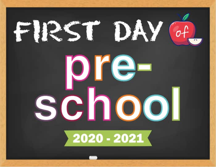 First day of school sign chalkboard themes are another go-to option for your new family tradition