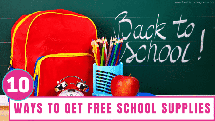 Free school supplies can be yours if you follow the 10 tips and tricks outlined in this article