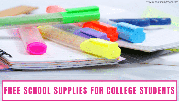Here are 7 ways to snag free school supplies for college students