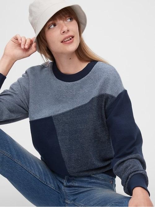 Gap Women's Patchwork Sweater