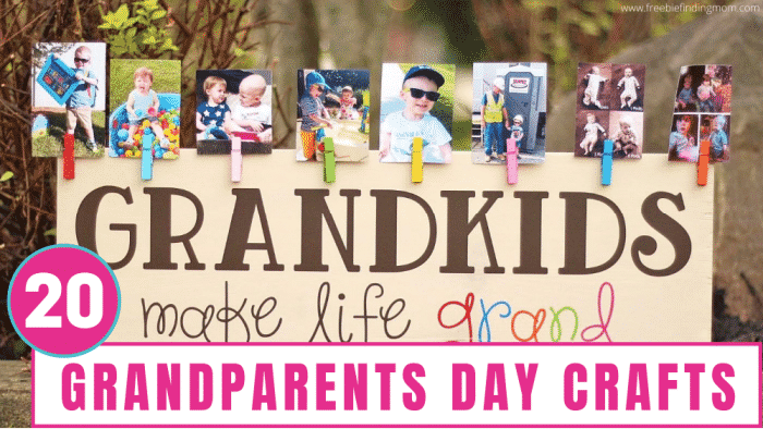 20 great grandparents day crafts for toddlers and kids that won't break the bank or destroy your home