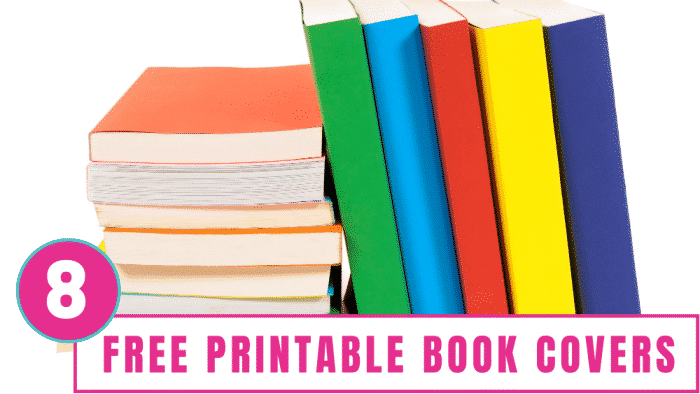 Use these 8 printable book covers to keep textbooks looking like new