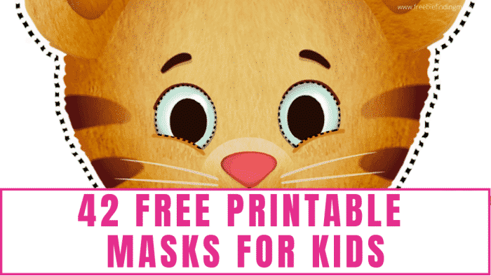 Download these free printable masks for kids to give the kiddos hours of fun