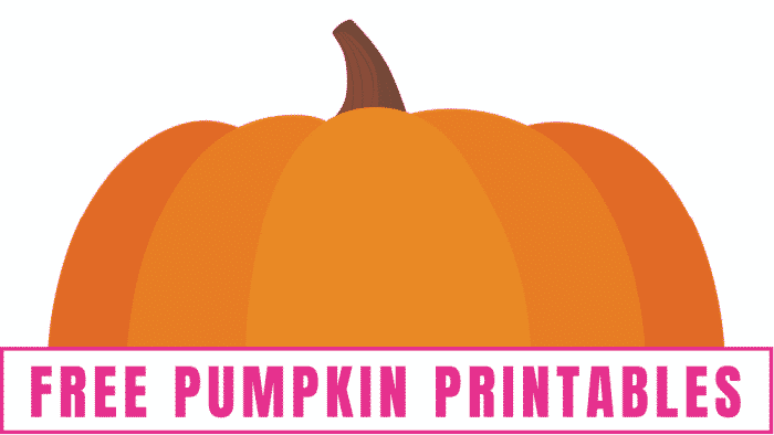 free pumpkin printable to use for fall crafts for kids