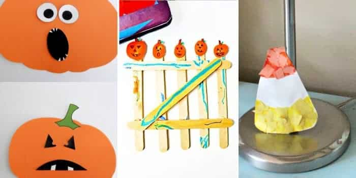 Preschool Halloween crafts are fun for toddlers and older kids