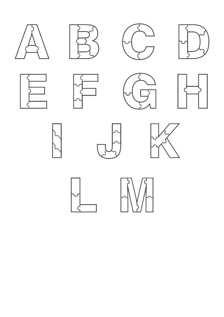 Printable Bubble Letters Puzzle Bubble Letter Alphabet