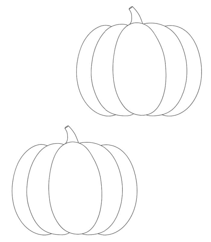 free mini printable pumpkin template