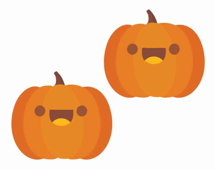 free mini smiley face pumpkin printable