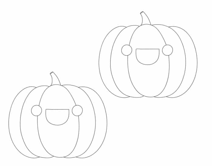 free printable mini smiley face pumpkin template