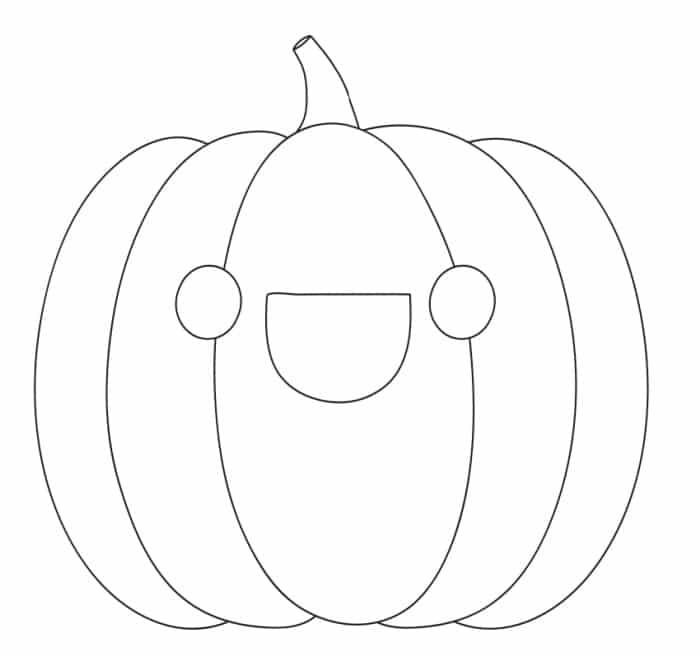 free printable smiley face pumpkin template