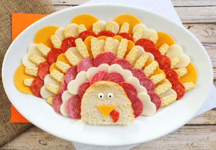 This turkey meat and cheese tray is will be gobbled up at Thanksgiving dinner in no time