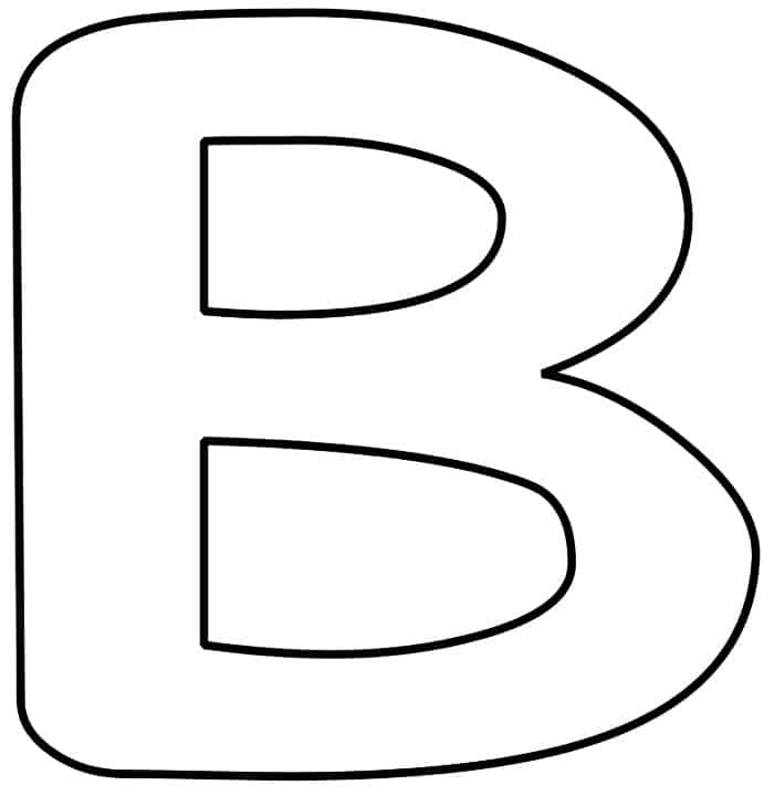 Free Printable Bubble Letter B